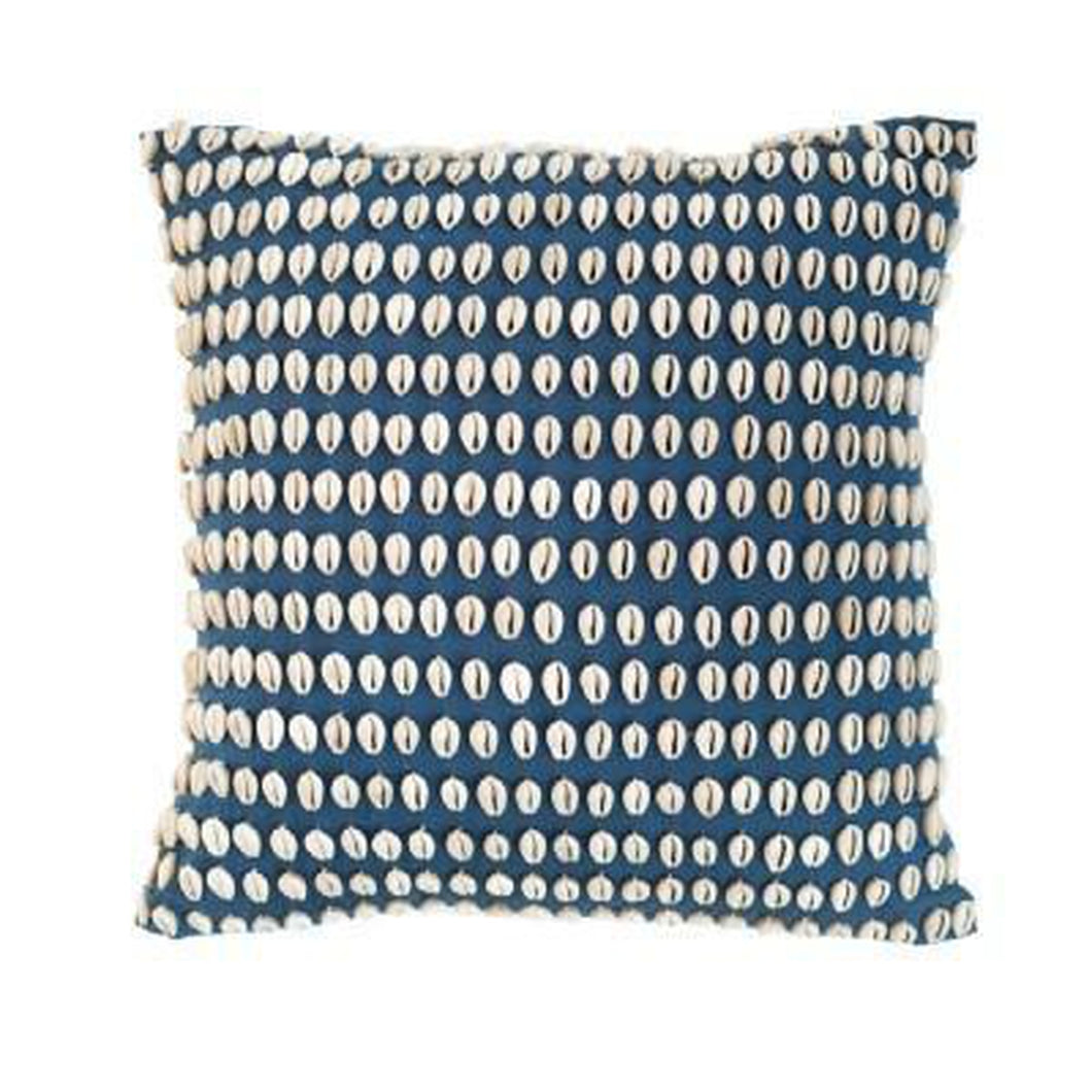 Kauri Shells Navy Medium Cushion 50x50cm - Magnolia Lane