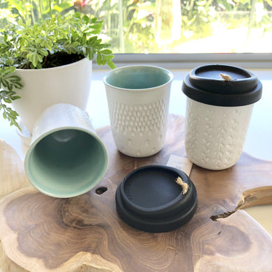 Keep Cup - Coffee takeaway cup with lid (available two designs) - Magnolia Lane
