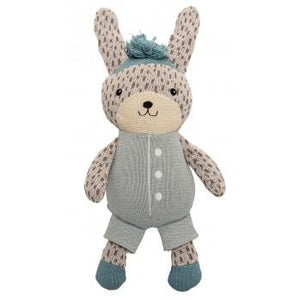 Knitted Bunny Kit Sky Blue White - Magnolia Lane
