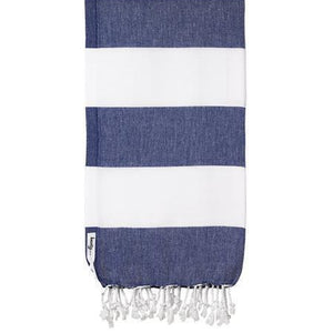 Knotty Capri Turkish Towel - Navy - Magnolia Lane