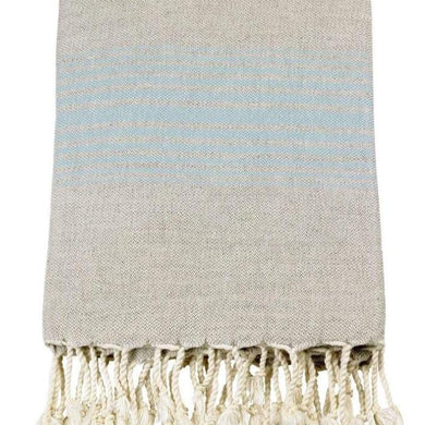 Linen Turkish Towels - Bath Towel / Blue - Magnolia Lane