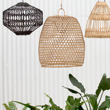 Load image into Gallery viewer, Luna Flat Rattan Pendant Light in Natural - Magnolia Lane