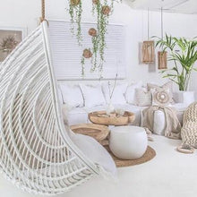 Load image into Gallery viewer, Makeba Hanging Chair | White by Uniqwa Furniture-Uniqwa Furniture-Magnolia Lane