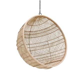 Bohemian Weave Rattan Bowl Hanging Chair | Natural - Magnolia Lane
