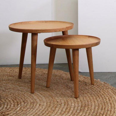 Nordic Side Table Set of 2-Magnolia Lane-Magnolia Lane