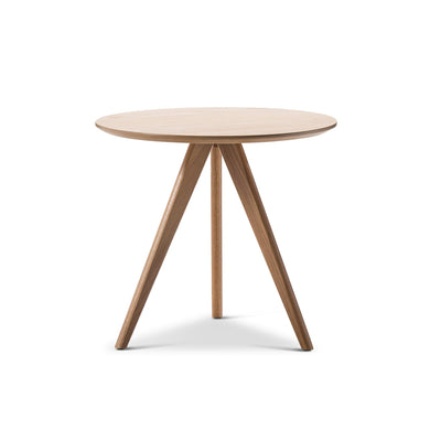 Scandi Oak Veneer Side Table - Tri Oak Legs - Magnolia Lane