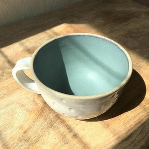 Sea Frost Cup - Hand Carved Tea Cup-Magnolia Lane-Magnolia Lane