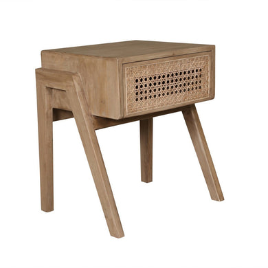 Sevilla Bedside Table With 1 Drawer-Crank Furniture-Magnolia Lane