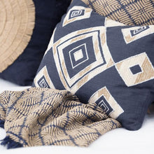 Load image into Gallery viewer, Shoowa Diamond Navy Lumber Cushion 35 x 53 cm - Magnolia Lane
