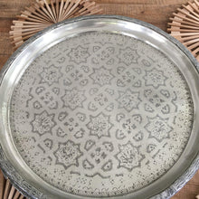Load image into Gallery viewer, Silver Moroccan Trays-Magnolia Lane-Magnolia Lane