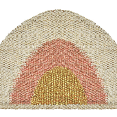 Sonny Round Doormat- Gold/Peach/Natural-Langdon Ltd-Magnolia Lane