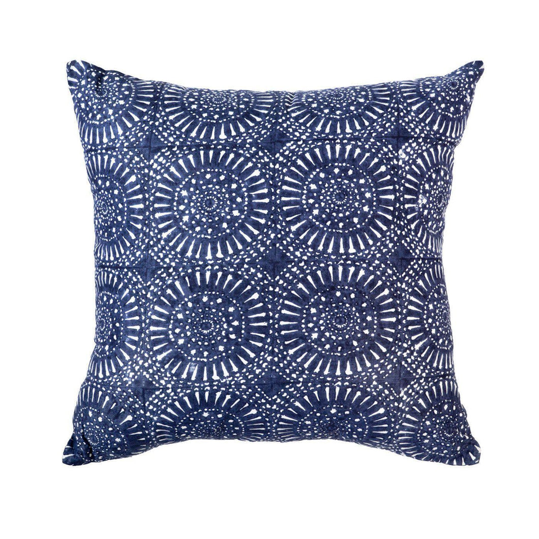 Sphere Print Navy Medium cushion 50x50cm - Magnolia Lane