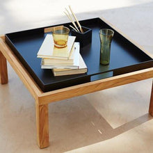 Load image into Gallery viewer, Square coffee table/footstool, Teak - Magnolia Lane