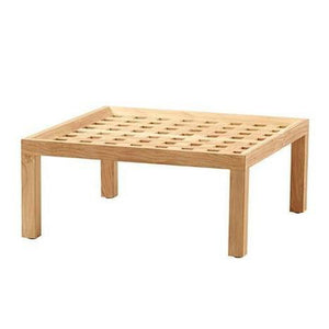 Square coffee table/footstool, Teak - Magnolia Lane