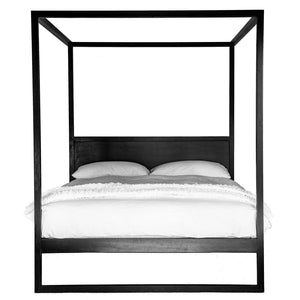Strand 4 Poster Bed\Black\Various sizes by Uniqwa Furniture - Magnolia Lane