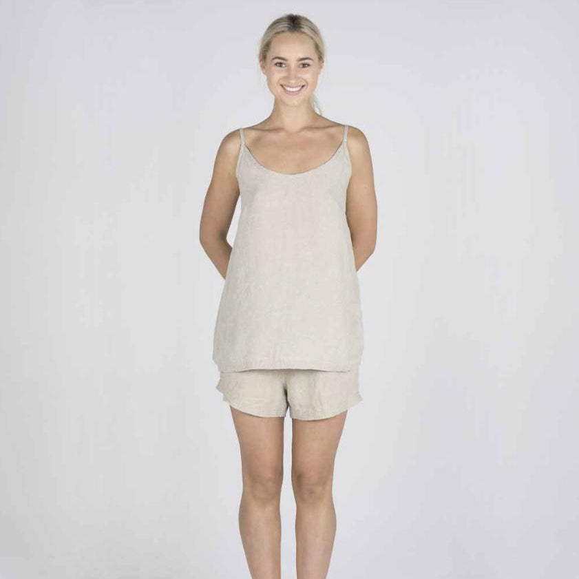 The Linen Camisole | Natural - Magnolia Lane