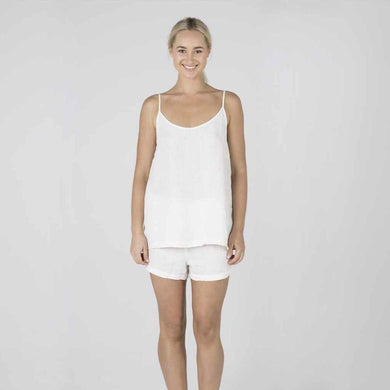 The Linen Camisole | White - Magnolia Lane