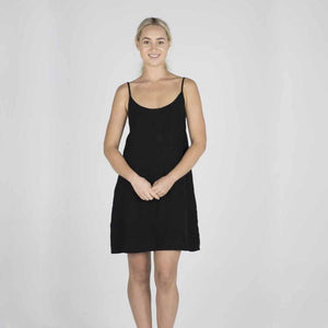 The Nightie/Summer Dress | Black - Magnolia Lane