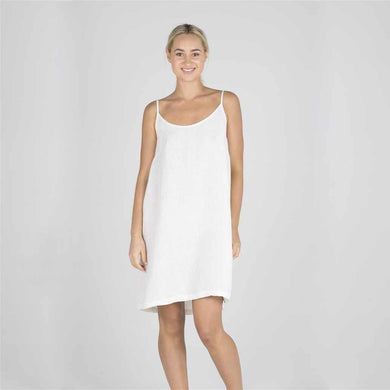 The Nightie/Summer Dress | White - Magnolia Lane