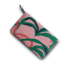 Load image into Gallery viewer, Travelling Trev Clutch|Penida Palm Print|Pink - Magnolia Lane