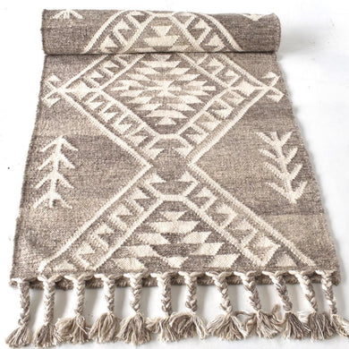 Turchia Wool Rug Runner | Taupe - Magnolia Lane
