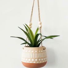 Load image into Gallery viewer, Kyra Hanging Planter White Terracotta - Magnolia Lane