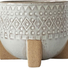 Load image into Gallery viewer, Zuri Planter with legs - White & Sand | Medium - Magnolia Lane