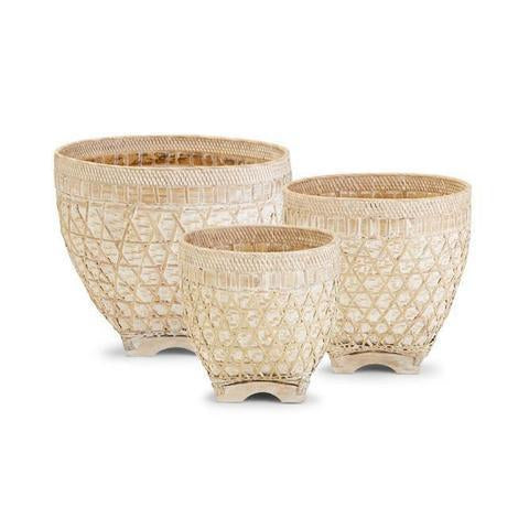 White Basket Set of 3 - Magnolia Lane