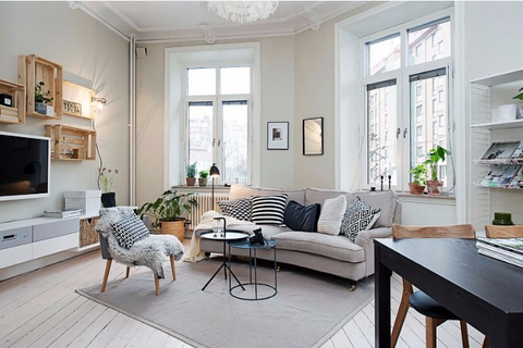 Idea for living room: the living room in Scandinavian style, Distinctify