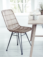 Flat ratan dining chair, Cox & Cox