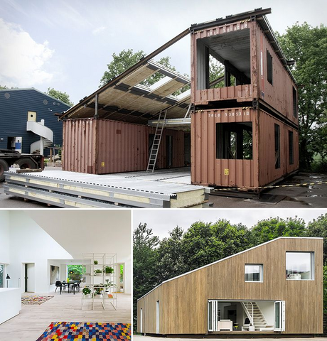 Ship container transformation into home