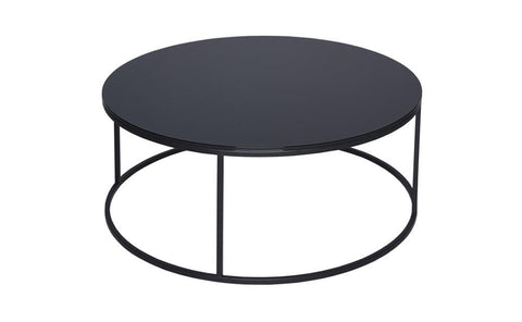 GillmoreSPACE Circular Coffee Table - Kensal BLACK with BLACK base