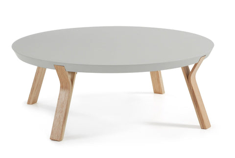 Distinctify Imporre Round Coffee Table - Grey with Ash Legs