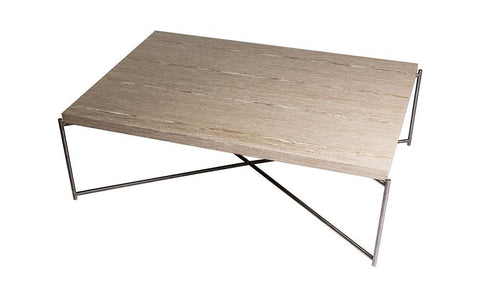 GillmoreSPACE Iris Weathered Oak With Gun Metal Frame Rectangle Coffee Table