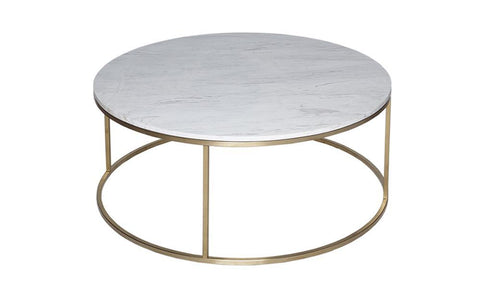 GillmoreSPACE Kensal Marble & Brass Circular Coffee Table