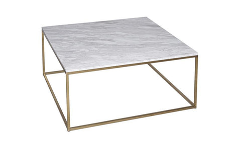 GillmoreSPACE Kensal Marble & Brass Square Coffee Table