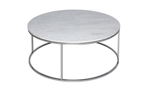 GillmoreSPACE Kensal Marble & Steel Circular Coffee Table