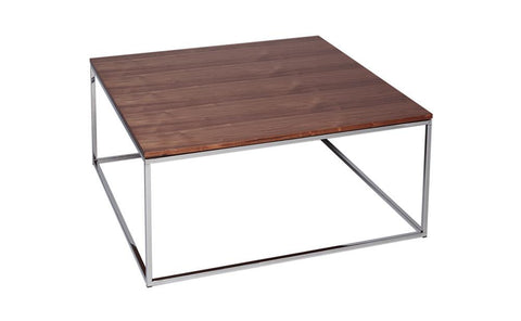 GillmoreSPACE Kensal Walnut & Steel Square Coffee Table