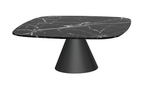 Oscar Black Marble & Black Square Coffee Table - Small