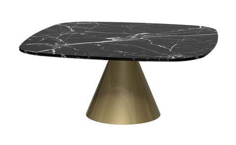 GillmoreSPACE Oscar Brass & Black Marble Square Coffee Table - Small