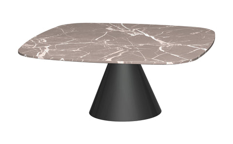 GillmoreSPACE Oscar Brown Marble & Black Square Coffee Table - Small