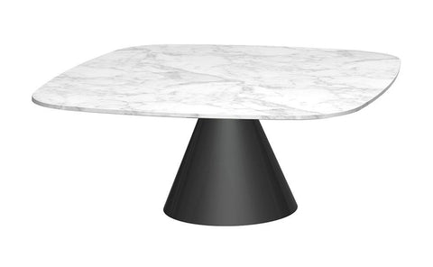 GillmoreSPACE Oscar White Marble & Matt Black Square Coffee Table - Small