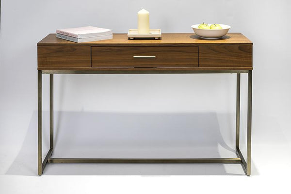 Distinctify Huxley Console Table - Natural Walnut