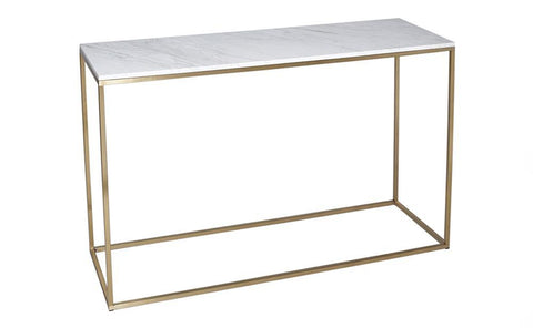 Kensal Marble & Brass Console Table