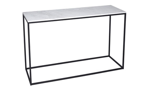 GillmoreSPACE Kensal Marble & Matt Black Metal Console Table