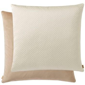 White & Beige Rombo Cushion