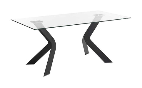Distinctify Gemelli Glass Dining Table