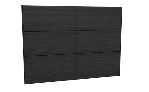 GillmoreSPACE Federico Matt Black Metal & Black Oak Headboard - King
