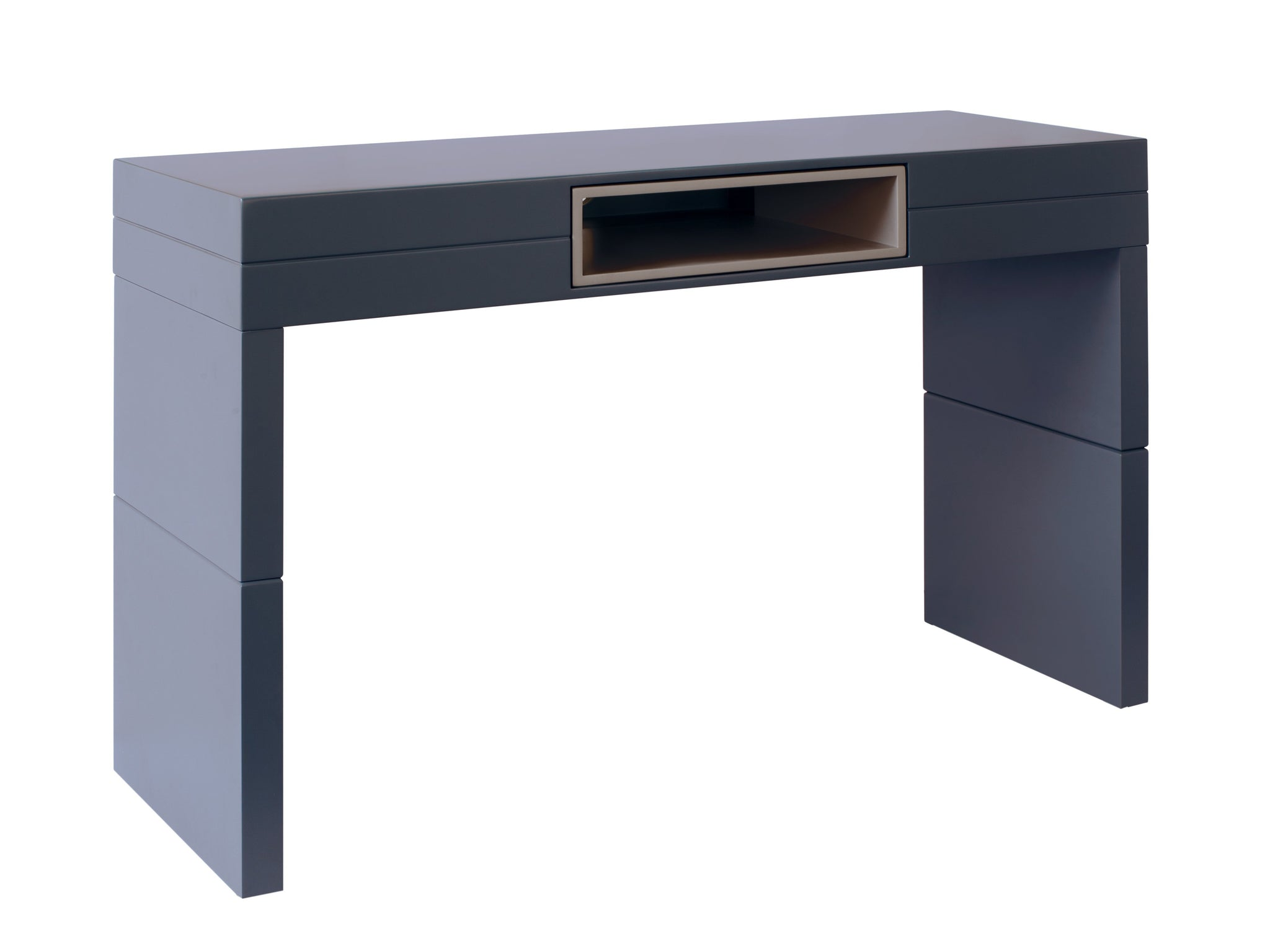 High Console table - Savoye GRAPHITE with STONE  accent