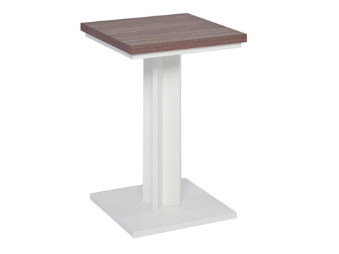 Lamp table - Essentials WHITE with WALNUT